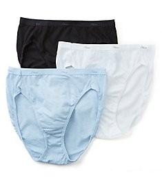 Hanes Cotton Hi Cut Panties - 3 Pack D43L