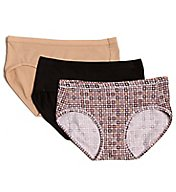 Hanes ComfortSoft Cotton Stretch Hipster Panty - 3 Pack ET41