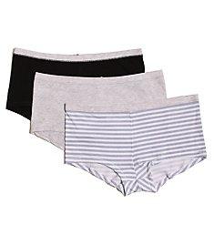 Hanes ComfortSoft Cotton Stretch Boy Brief Panty- 3 Pack ET49