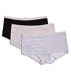 Hanes ComfortSoft Cotton Stretch Boy Brief Panty- 3 Pack ET49