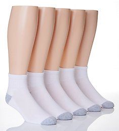 Hanes X-Temp Comfort Cool Ankle Socks - 5 Pack U15-5