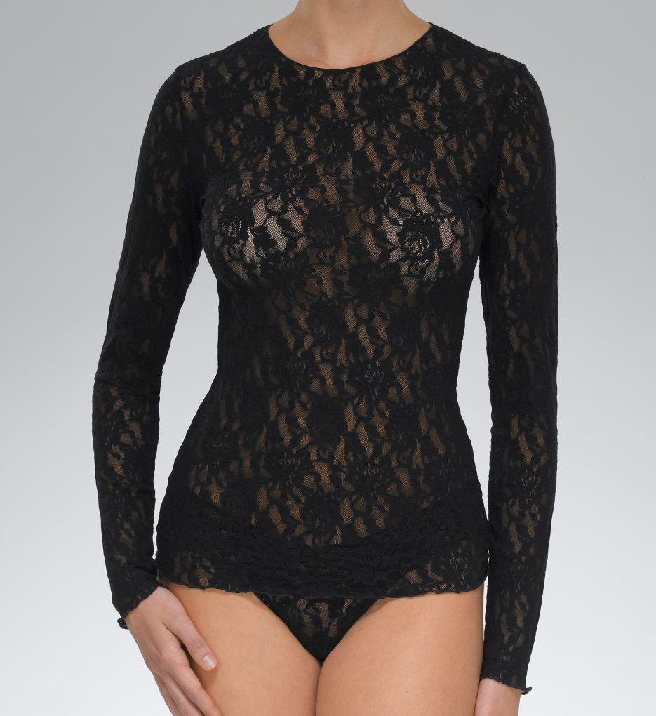 Hanky Panky Signature Lace Unlined Long Sleeve T-shirt 128L