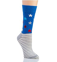Happy Socks Americana Star Stripe Crew Sock LSAS01
