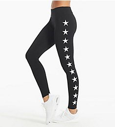 Hard Tail Flat Waist All Star Print Ankle Legging W452-505