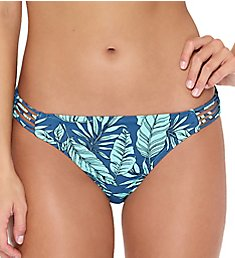 Hot Water Lush Tropics Multi Strap Side Hipster Swim Bottom 24LT1149