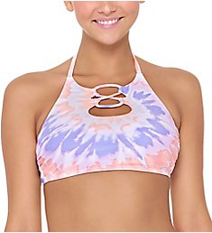 Hot Water Precious Illusion High Neck Halter Bikini Swim Top 24PL9069