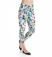 Hue Essential Denim Havana Nights Floral Capri 17513