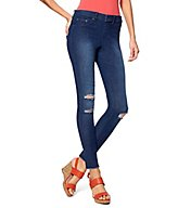 Hue Ripped Knee Denim Leggings 17590