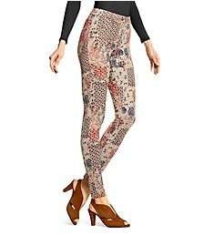 Hue Stamped Flowers Essential Denim Leggings 18013