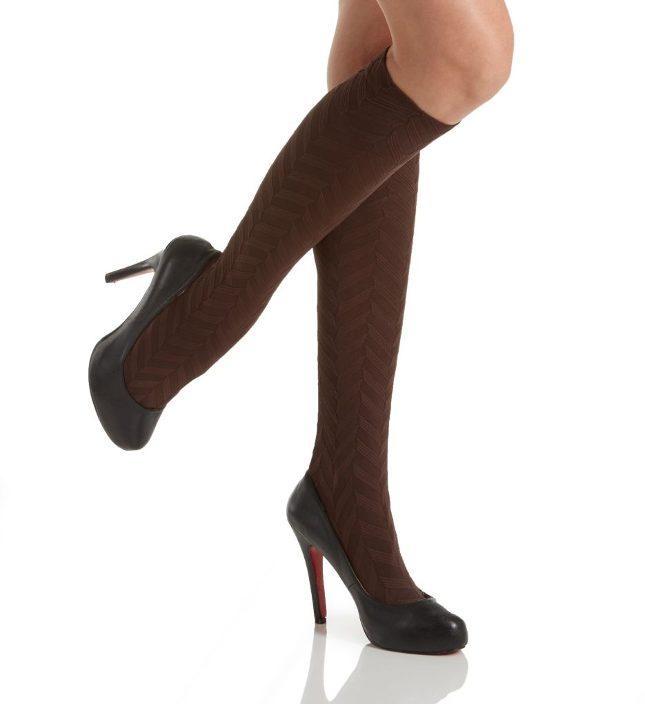 Hue Herringbone Texture Knee High 18380