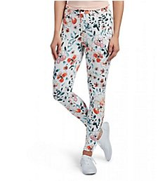 Hue Curvy Sketched Flower Denim Leggings 18704