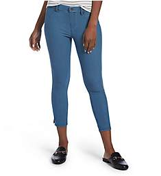 Hue Essential Denim Ankle Slit Capri Legging 18756