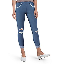 Hue Curvy Ripped Cuffed Denim Skimmer 18764