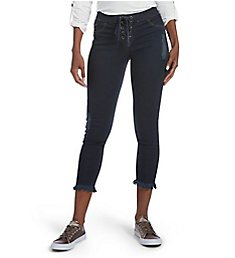 Hue Fashion Denim Lace Up Shipwrecked Capri 18813