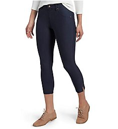Hue Essential Denim Ankle Slit Capri Legging 20508