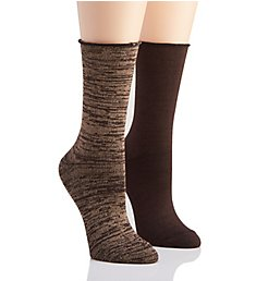 Hue Super Soft Roll Top Boot Sock - 2 Pack 20903