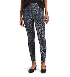 Hue Leopard Ultra Soft Denim High Waist 7/8 Leggings 21428