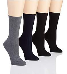 Hue Rib Dress Sock - 4 Pack U17631