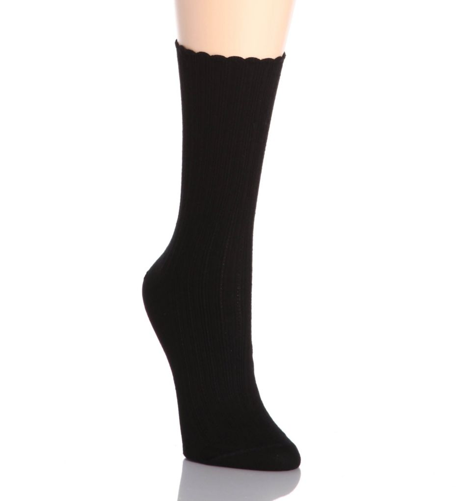 Hue Scalloped Pointelle Sock U2440