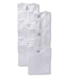 Jockey Classic Fit 100% Cotton Crew T-Shirts - 6 Pack 9100