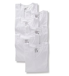 Jockey Classic Fit 100% Cotton V-Neck T-Shirts - 6 Pack 9106