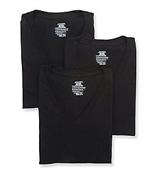 Jockey StayNew 100% Cotton V-Neck T-Shirts - 3 Pack 9954