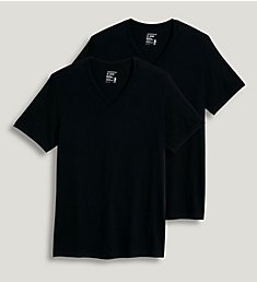 Jockey Big Man StayNew Cotton V-Neck T-Shirt - 2 Pack 9986