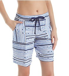 Jockey Sleepwear Painted Stripe Bermuda Short JK11503