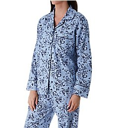 KayAnna Blue Swirl Flannel Pajama Set 15175BS