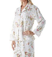 KayAnna Brushed Back Satin Floral Pajama Set B15117N