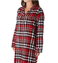 KayAnna Red Plaid Flannel Sleepshirt F12432R