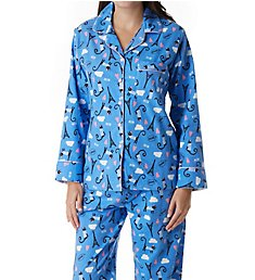 KayAnna Paris Cat Flannel Pajama Set F15175C