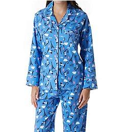 KayAnna Paris Cat Flannel Pajama Set F15175C