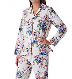 KayAnna Floral Flannel Pajama Set F15175F