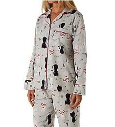 KayAnna Happy Cats Flannel Pajama Set F15175H