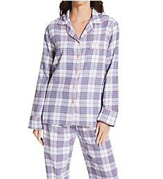 KayAnna Printed Plaid Flannel Pajama Set F15175L