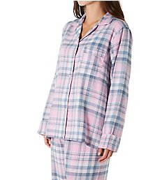 KayAnna Pink Plaid Flannel Pajama Set F15175N