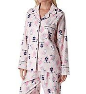KayAnna Owls Flannel Pajama Set F15175O