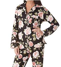 KayAnna Printed Rose Flannel Pajama Set F15175R