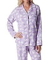 KayAnna Swans Flannel Pajama Set F15175S