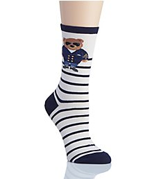 Lauren Ralph Lauren Polo Singles Commodore Bear Trouser Socks 7969