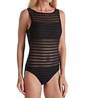 Lauren Ralph Lauren Ottoman Mesh High Neck One Piece Swimsuit LR7D008