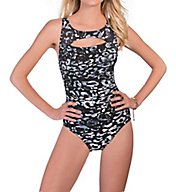 MagicSuit Skin Deep Fiona Peekaboo Ruched Waist 1PC Swimsuit 368165