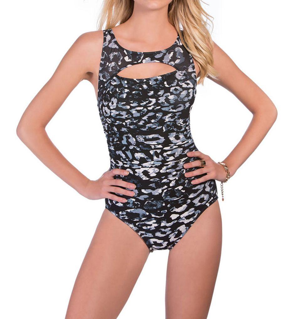MagicSuit Skin Deep Fiona Peekaboo Ruched Waist 1PC Swimsuit 368165