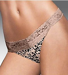 Maidenform One Size For All Classic Rise Lace Thong 40118