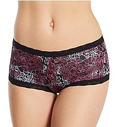 Maidenform Classics Hip Fit Micro with Lace Boyshort Panty 40760