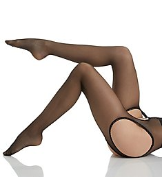 MeMoi Suspender Lace Trim Tights MM-619