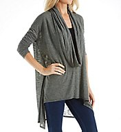 Michael Stars Brooklyn Jersey Long Sleeve Cowl Neck Poncho Tee 6917