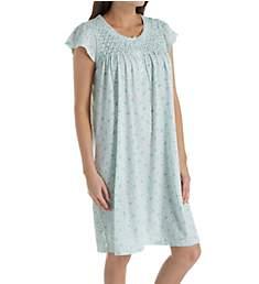 Miss Elaine Silkyknit Cap Sleeve Short Gown 201438