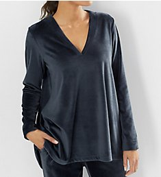 N by Natori Velour Long Sleeve Top BC5014